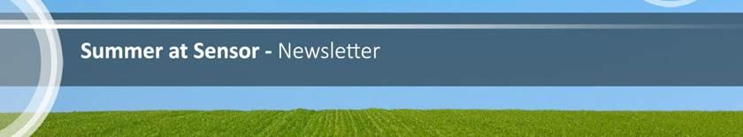 Summer at sensor - newsletter